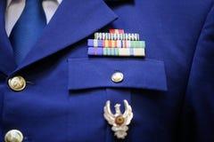 Στρατιωτικά διακριτικά σε μια στρατιωτική στολή Στοκ εικόνα με δικαίωμα ελεύθερης χρήσης