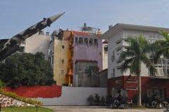 Στρατιωτικά λείψανα κοντά στο B52 μουσείο στο Ανόι Βιετνάμ Στοκ εικόνα με δικαίωμα ελεύθερης χρήσης