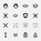 Στρατιωτικά εικονίδια συμβόλων διάνυσμα απεικόνιση Στοκ φωτογραφίες με δικαίωμα ελεύθερης χρήσης