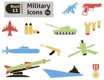 Στρατιωτικά εικονίδια Στοκ Εικόνα
