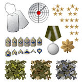Στρατιωτικά εικονίδια Στοκ εικόνα με δικαίωμα ελεύθερης χρήσης