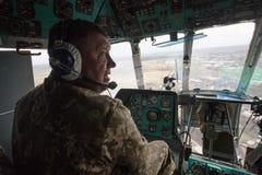 Στρατιωτικά ελικόπτερα στο καθήκον αγώνα Στοκ Εικόνα