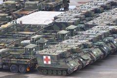 στρατιωτικά οχήματα Στοκ Φωτογραφία