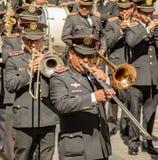 Στρατιωτικά παιχνίδια μπαντών στην παρέλαση Στοκ Εικόνες