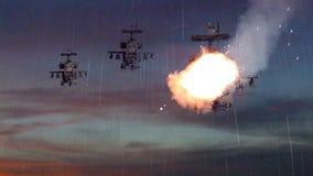 Στρατιωτικά πολεμικά σκάφη που χτυπιούνται με το βλήμα και την ανατίναξη Στοκ φωτογραφίες με δικαίωμα ελεύθερης χρήσης
