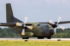 Στρατιωτικά C160 αεροσκάφη φορτίου Transall Στοκ Φωτογραφίες