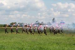Στρατιωτικές ασκήσεις του ρωσικού στρατού στο Ιβάνοβο Στοκ Φωτογραφία
