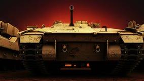 Στρατιωτικές δεξαμενές, άνευ ραφής βρόχος ελεύθερη απεικόνιση δικαιώματος