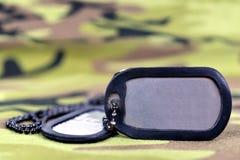 Στρατιωτικές ετικέττες σκυλιών Στοκ φωτογραφία με δικαίωμα ελεύθερης χρήσης
