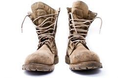 Στρατιωτικές μπότες στρατού Στοκ Φωτογραφίες