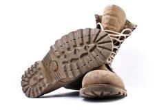Στρατιωτικές μπότες στρατού Στοκ Εικόνα