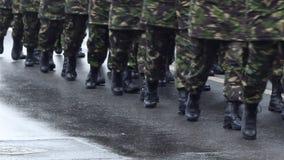 Στρατιωτικές μπότες απόθεμα βίντεο