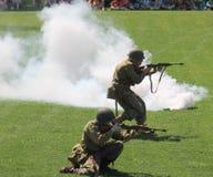 Στρατιωτική άσκηση Στοκ φωτογραφία με δικαίωμα ελεύθερης χρήσης