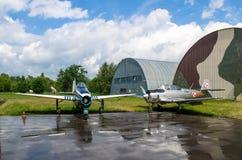 Στρατιωτική έκθεση αεροπλάνων Στοκ Εικόνες