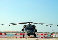 Στρατιωτική αναγκαστική προσγείωση ελικοπτέρων Στοκ Φωτογραφίες