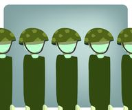 Στρατιωτική απεικόνιση στάσεων ακόμα Στοκ φωτογραφία με δικαίωμα ελεύθερης χρήσης