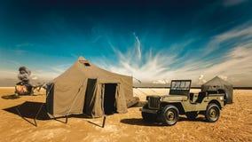 Στρατιωτική βάση στην έρημο Στοκ εικόνα με δικαίωμα ελεύθερης χρήσης