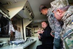 Στρατιωτική βοήθεια στην Ουκρανία Στοκ Φωτογραφία
