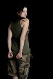 στρατιωτική γυναίκα χερι στοκ φωτογραφία με δικαίωμα ελεύθερης χρήσης