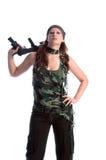στρατιωτική γυναίκα Στοκ φωτογραφίες με δικαίωμα ελεύθερης χρήσης