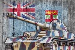 Στρατιωτική δεξαμενή με τη συγκεκριμένη σημαία των Φίτζι στοκ εικόνες με δικαίωμα ελεύθερης χρήσης