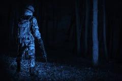 Στρατιωτική λειτουργία τη νύχτα Στοκ Εικόνες