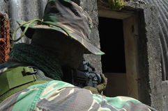 στρατιωτική εκπαίδευση αγώνα Στοκ φωτογραφίες με δικαίωμα ελεύθερης χρήσης