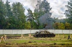 Στρατιωτική δεξαμενή Στοκ Εικόνες