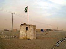 στρατιωτική θέση σε πακιστανικό Balochistan στοκ εικόνα με δικαίωμα ελεύθερης χρήσης