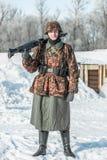 Στρατιωτική ιστορική αναπαράσταση «άθλος του Αλεξάνδρου Matrosov» στοκ φωτογραφία με δικαίωμα ελεύθερης χρήσης