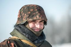 Στρατιωτική ιστορική αναπαράσταση «άθλος του Αλεξάνδρου Matrosov» στοκ φωτογραφίες
