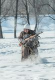 Στρατιωτική ιστορική αναπαράσταση «άθλος του Αλεξάνδρου Matrosov» στοκ εικόνες με δικαίωμα ελεύθερης χρήσης