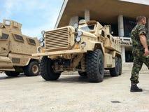 Στρατιωτική μηχανή Στοκ Εικόνες