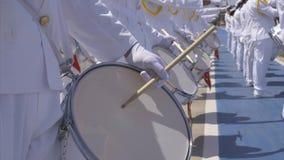 Στρατιωτική μπάντα - τύμπανα απόθεμα βίντεο
