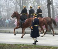 στρατιωτική παρέλαση ιππέων στοκ εικόνα με δικαίωμα ελεύθερης χρήσης