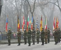 στρατιωτική παρέλαση πεζικού Στοκ εικόνες με δικαίωμα ελεύθερης χρήσης