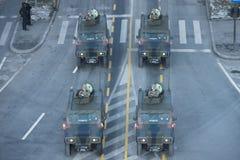 Στρατιωτική παρέλαση που γιορτάζει τη εθνική μέρα της Ρουμανίας στοκ εικόνες με δικαίωμα ελεύθερης χρήσης