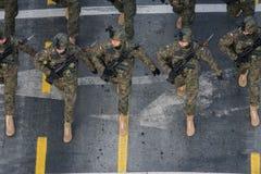 Στρατιωτική παρέλαση που γιορτάζει τη εθνική μέρα της Ρουμανίας στοκ φωτογραφία με δικαίωμα ελεύθερης χρήσης