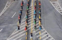 Στρατιωτική παρέλαση που γιορτάζει τη εθνική μέρα της Ρουμανίας στοκ φωτογραφίες