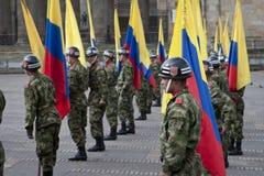 Στρατιωτική παρέλαση στη Μπογκοτά, Κολομβία Στοκ φωτογραφίες με δικαίωμα ελεύθερης χρήσης