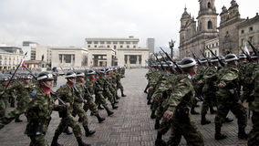 Στρατιωτική παρέλαση στη Μπογκοτά, Κολομβία Στοκ Φωτογραφίες
