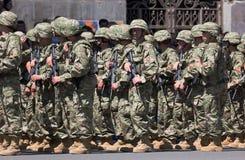 στρατιωτική παρέλαση Tbilisi τη&sig στοκ φωτογραφία