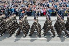 Στρατιωτική παρέλαση για την ουκρανική ημέρα της ανεξαρτησίας Στοκ φωτογραφία με δικαίωμα ελεύθερης χρήσης