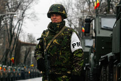 Στρατιωτική παρέλαση εθνικής μέρας Στοκ Εικόνα