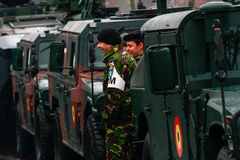 Στρατιωτική παρέλαση εθνικής μέρας Στοκ Εικόνες