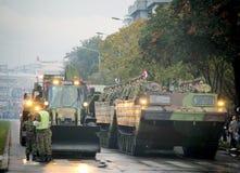 Στρατιωτική παρέλαση σε ΒΕΛΙΓΡΑΔΙ Στοκ φωτογραφία με δικαίωμα ελεύθερης χρήσης