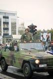 Στρατιωτική παρέλαση σε ΒΕΛΙΓΡΑΔΙ Στοκ Εικόνες
