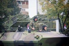 Στρατιωτική παρέλαση σε ΒΕΛΙΓΡΑΔΙ Στοκ εικόνα με δικαίωμα ελεύθερης χρήσης