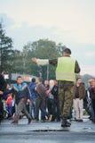 Στρατιωτική παρέλαση σε ΒΕΛΙΓΡΑΔΙ Στοκ Φωτογραφίες