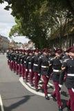 Στρατιωτική παρέλαση στο Guildhall Winchester Αγγλία UK Στοκ φωτογραφία με δικαίωμα ελεύθερης χρήσης